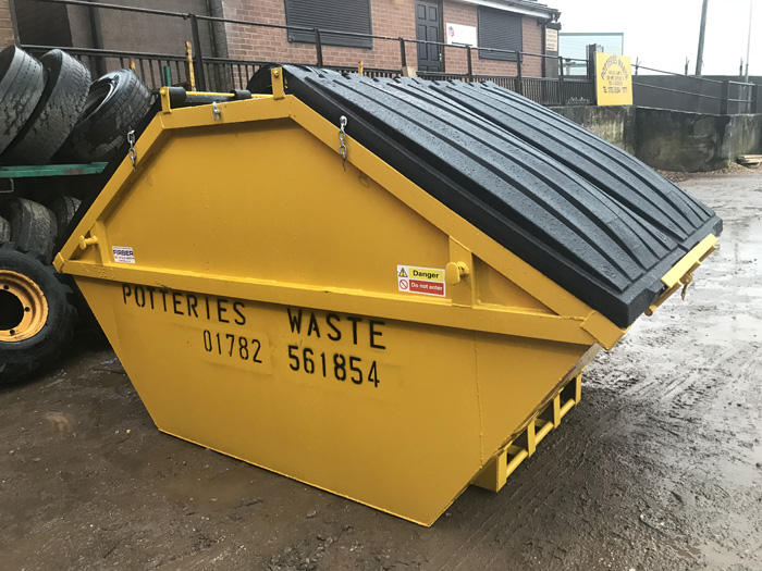 Skip Hire 8 Cubic yard Drop Door Builders Skip Stoke on Trent and Newcastle under Lyme