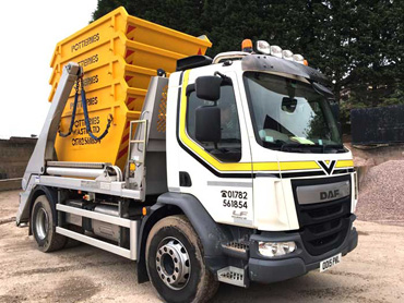 4 – 10 Tonne Skip Wagon delivery throughout Stoke-on-Trent Newcastle under Lyme